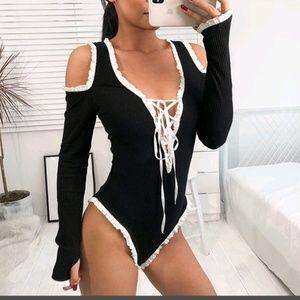 Tops - 👿Sexy Lace Cutout Bodysuit